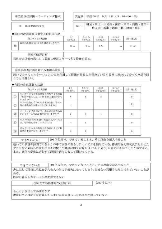 事業所自己評価(別紙-3P