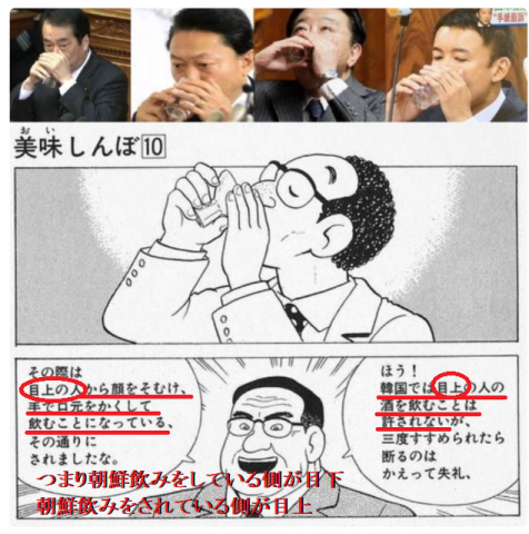 朝鮮飲み How to drink of Koreans
