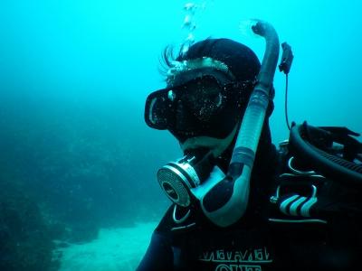 COOLPIX W300 水深25m 自撮り