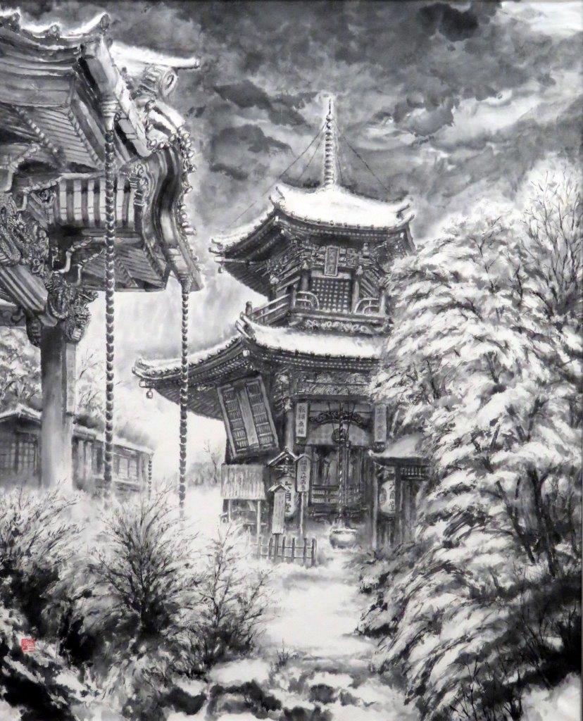 内田哲泉 古刹雪韻 (1)