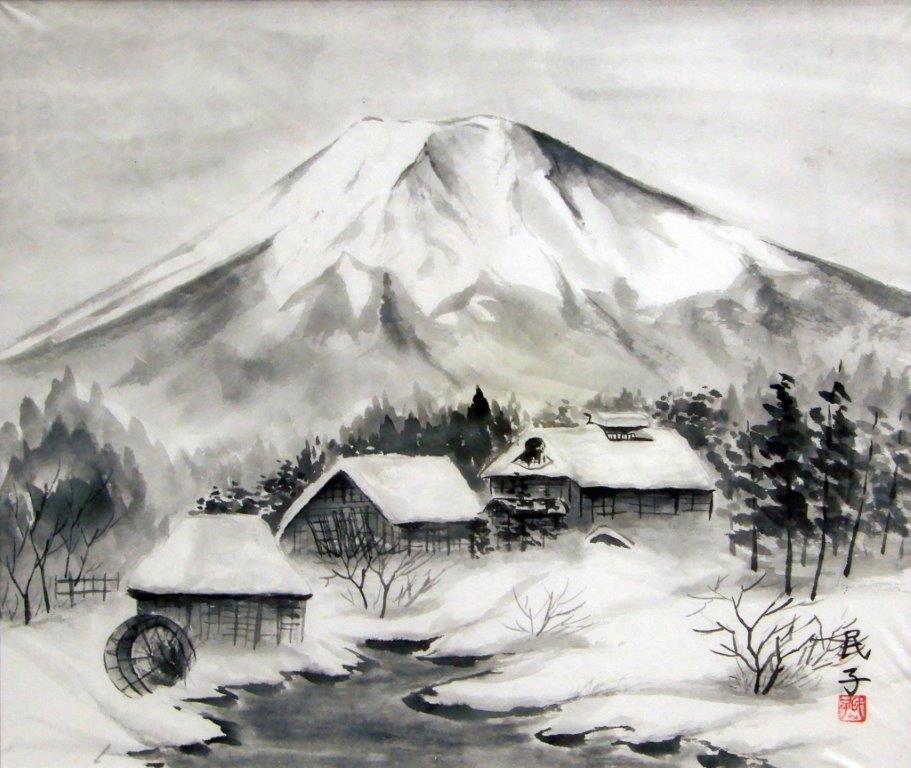 志村民子 忍野富士 (3)