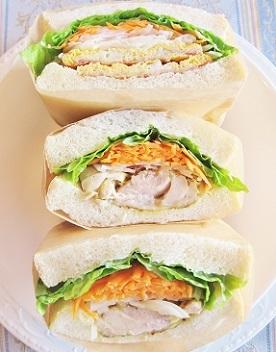 紙巻きサンドイッチ チキン