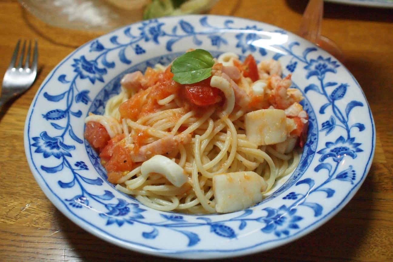ルルロッソ海鮮トマトのパスタ!