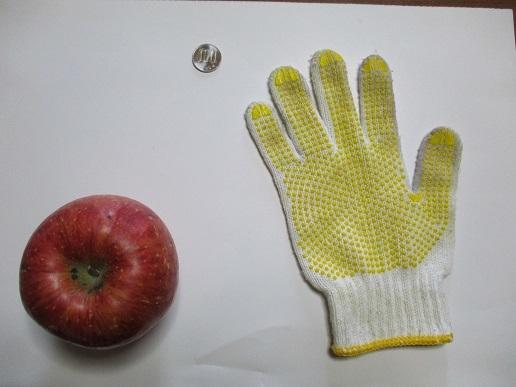 りんごと手袋と百円