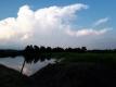 浅間山の積乱雲と虹