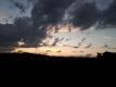 西の空の夕焼け