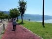 諏訪湖のリハビリウォーキング