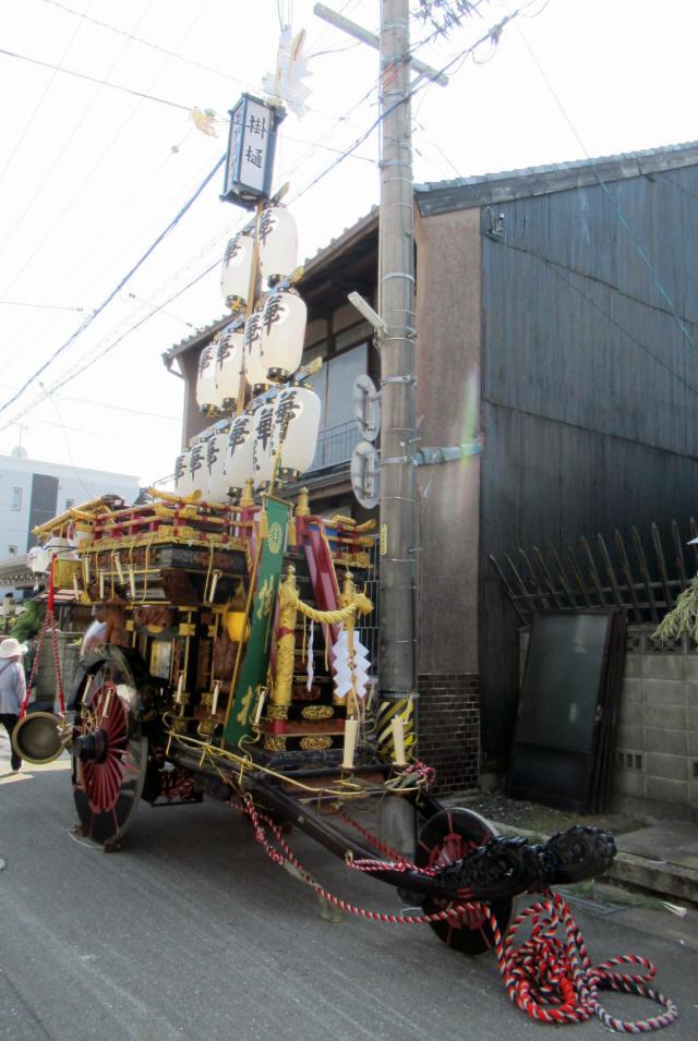 掛樋の祭車3
