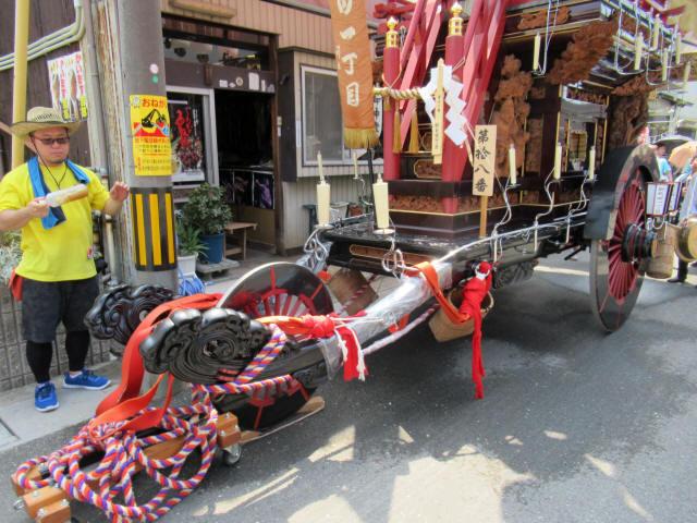 新矢田一丁目の祭車3