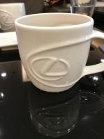 Lマークのカップでアイスコーヒー180727