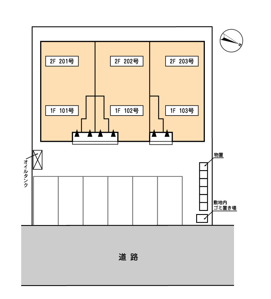 建物・駐車場配置図