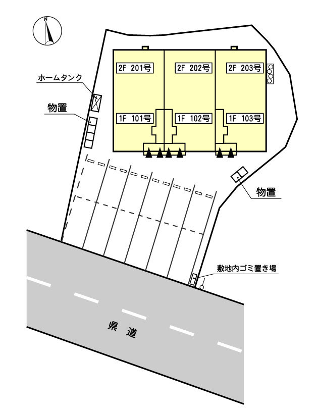 藤代AP_駐車場配置図