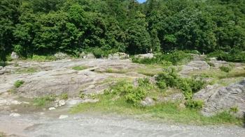 天然記念物の長瀞の石畳
