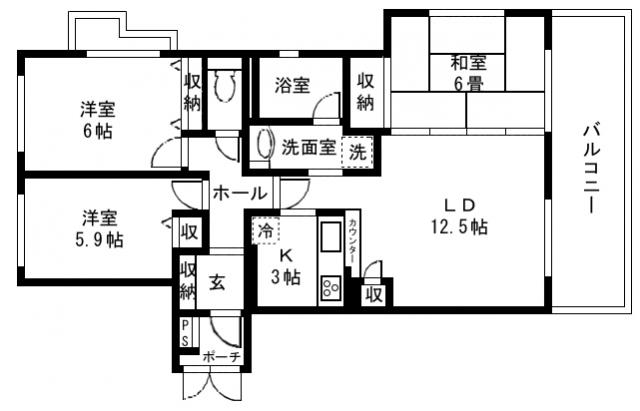 ■物件番号5446 駅徒歩9分!3LDK!分譲マンション賃貸!敷地Pあり!家賃12万円!2階カド部屋!