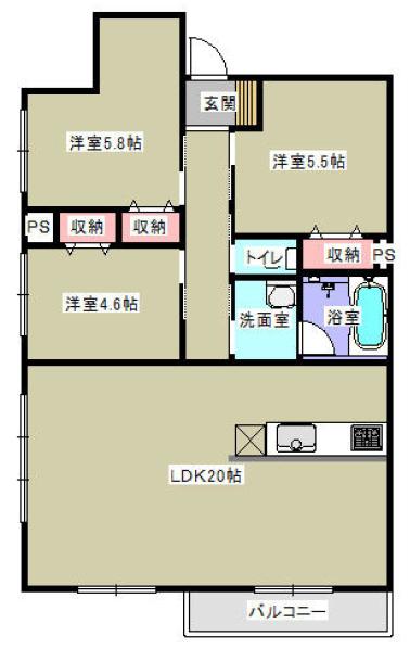 ■物件番号P5447(茅ヶ崎賃貸)ペット可デザイナーズマンション!3LDK!大型犬可!ネコ可!オシャレ!12.2万円!海側!