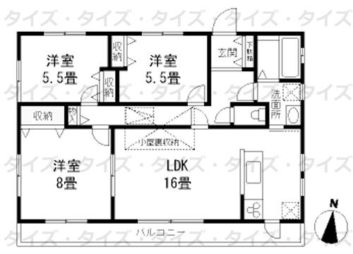 ■物件番号5455 浜須賀学区!3LDK!最上階カド!隣室なし!屋外シャワー!都市ガス!