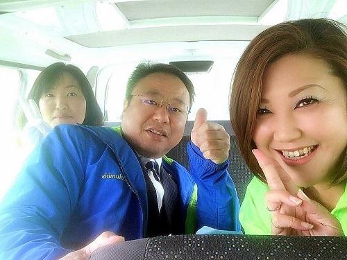 高田えつお那須烏山市議候補を激励!その3②