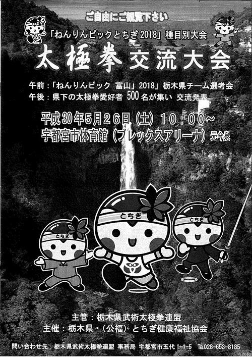 ねんりんピックとちぎ2018<太極拳交流大会>!②