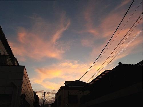 夕焼けが綺麗だった件!