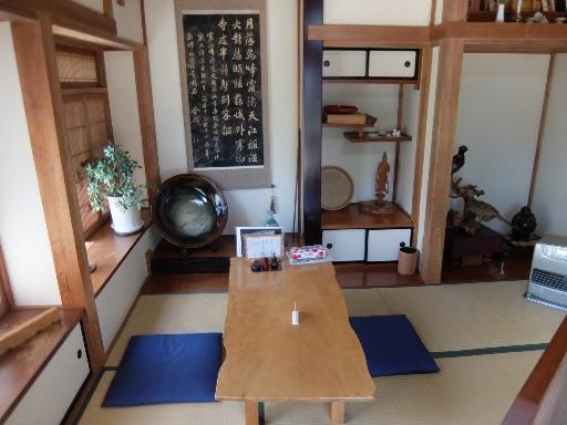 床の間のテーブル席