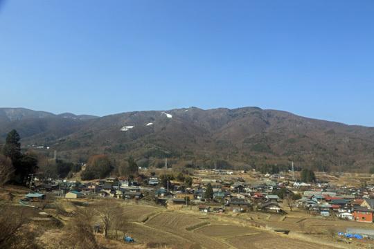 富士見付近から入笠山方面