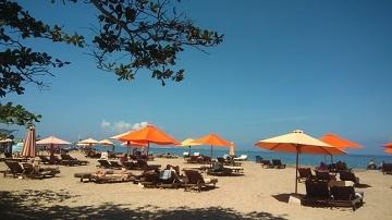 Jamu教室後のビーチ