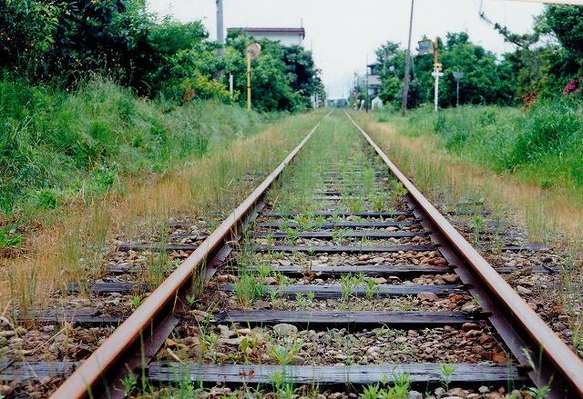 ④御霊付近の線路