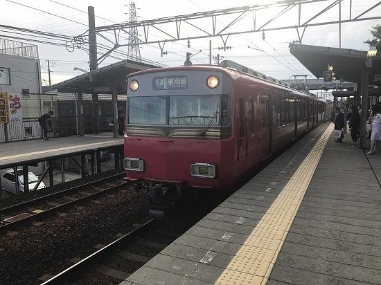 ⑱岡崎公園駅ホーム
