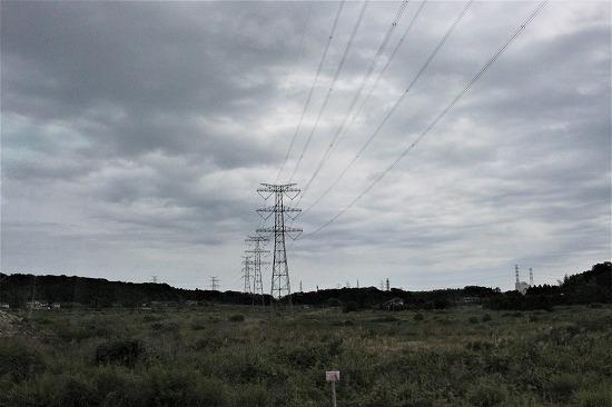 ⑥第一原発への送電線