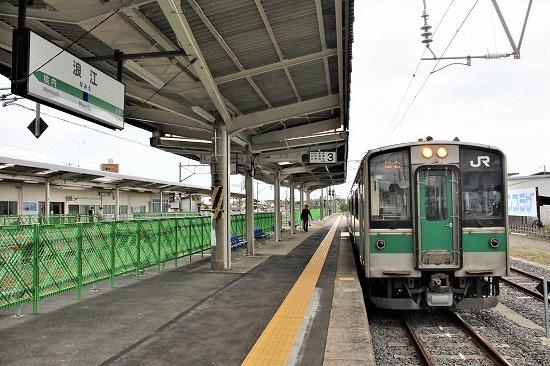 ⑫浪江駅ホーム