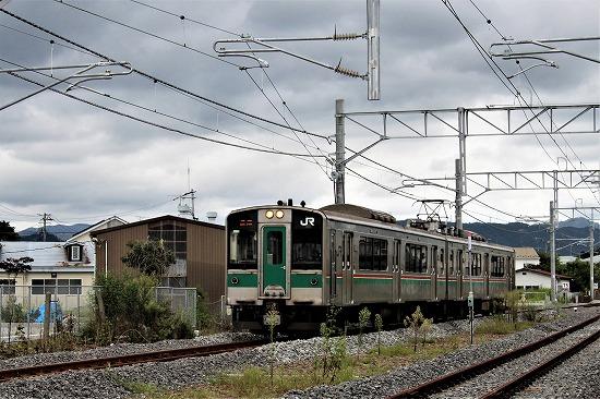 ⑬浪江に到着した電車