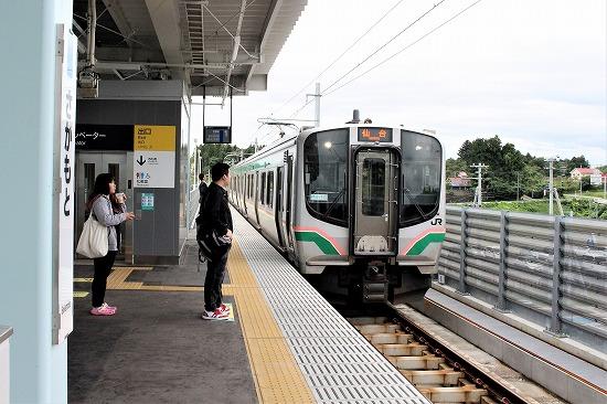 ㉑坂元駅ホーム