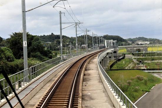 ㉒再建された高架線