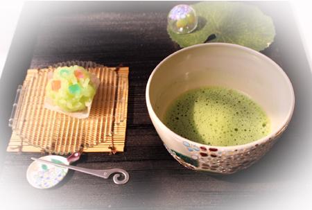 66お抹茶・紫陽花