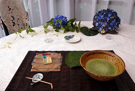 611紫陽花お抹茶