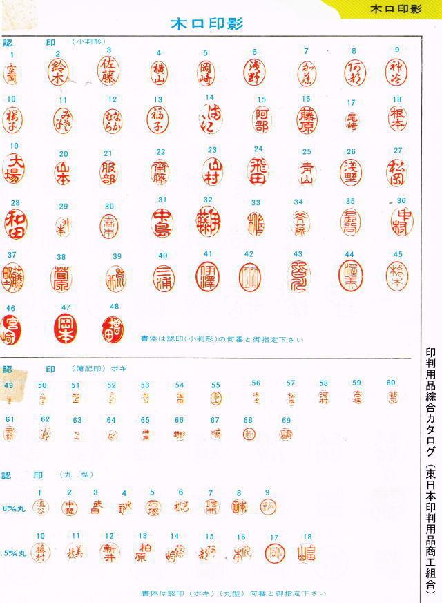 手彫り印鑑 吉相体
