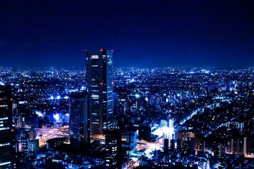 東京の夜景 光の絶景2ブルー