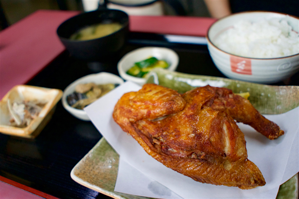 安国屋@日光市手岡  鶏から揚げ定食