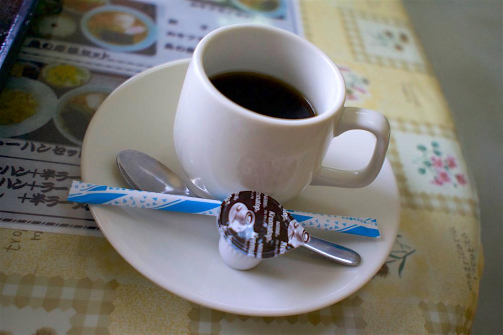 松川食堂@塩谷町玉生 サービスのコーヒー