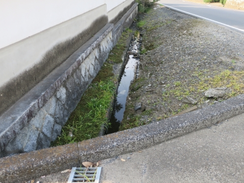 「子供や自転車がドブに落ちてしまう路肩」川又地区 (2)