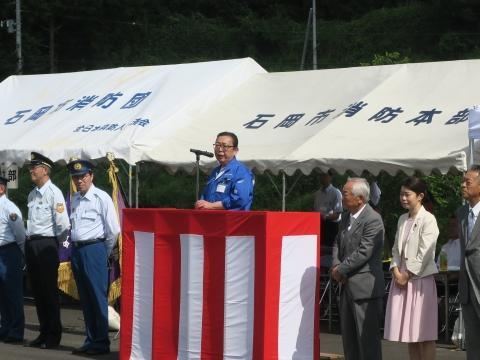 「石岡市消防団ポンプ操法大会」②