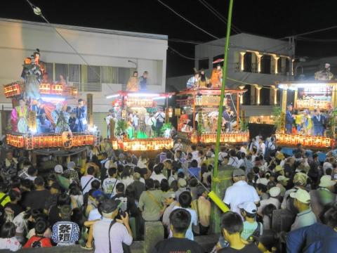 「柿岡八坂神社」祗園祭①
