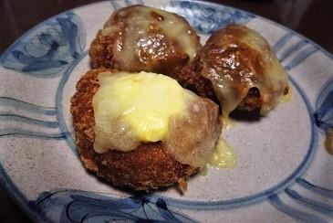 コロッケメンチチーズ焼