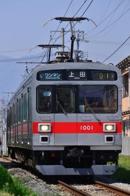 2018年4月21日 上田電鉄別所線 上田原~赤坂上 1000系1001編成