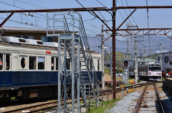 2018年4月21日 上田電鉄別所線 下之郷 7200系7255編成/1000系1002編成