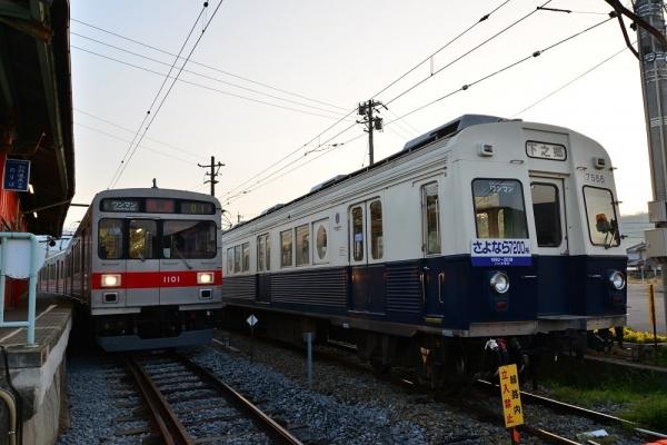 2018年4月28日 上田電鉄別所線 下之郷 1000系1001編成/7200系7255編成