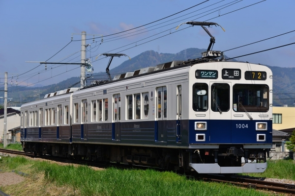 2018年4月28日 上田電鉄別所線 赤坂上~三好町 1000系1004編成