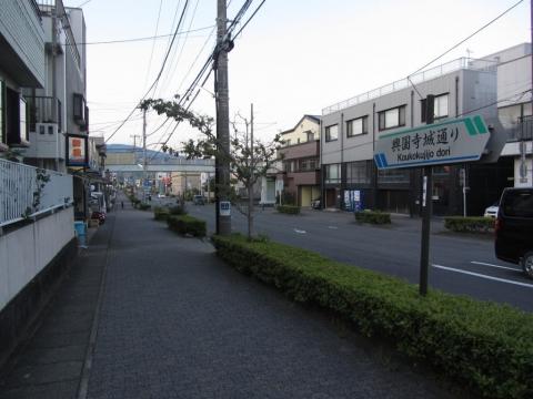 興国寺城通り