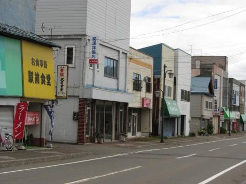 清水沢駅前