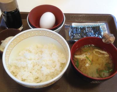 すき家のたまかけ朝食250円